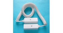 "Knight Plastics L40 White Door Loop 6-Way 10"" Coiled with JB White"