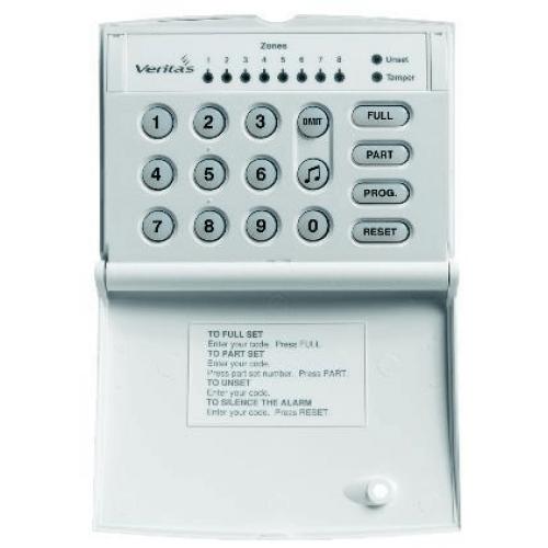 Burglar Alarm Cost >> Texecom Veritas LED Stylish Keypad