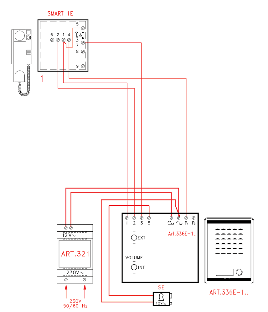 videx smk1s 1 way access control audio kit rh citysecuritysystems co uk Aiphone Intercom Wiring-Diagram 2Wire Intercom Schematic