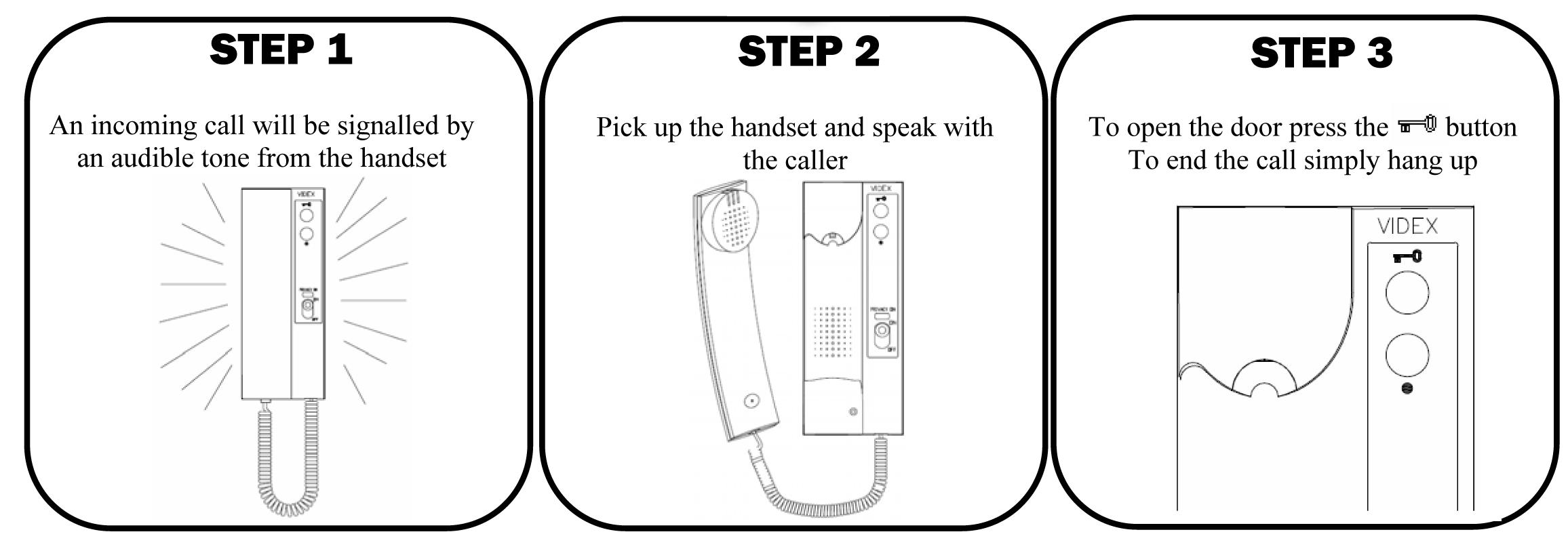 Videx 3102 Intercom Access Control Handset Telephone Wiring Diagram